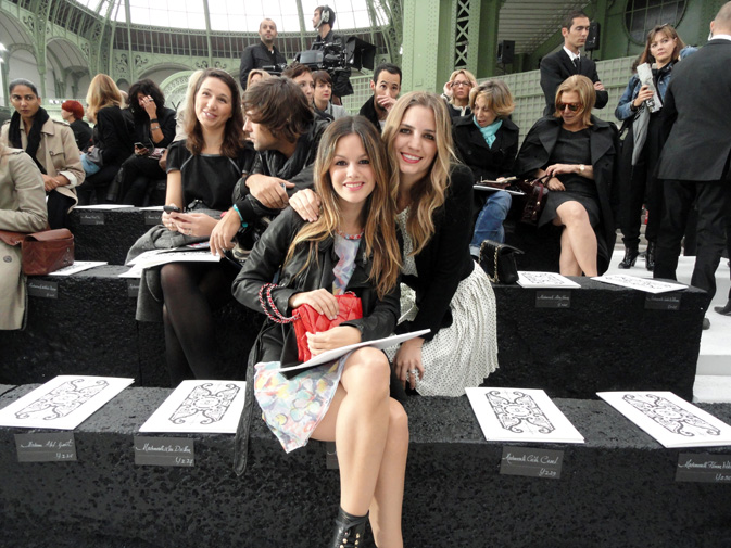 rachel bilson icons. Chanel Front Row, Spring 2011