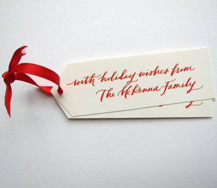 Personalized Gift Tags and Ribbon — Taryn Cox The Wife