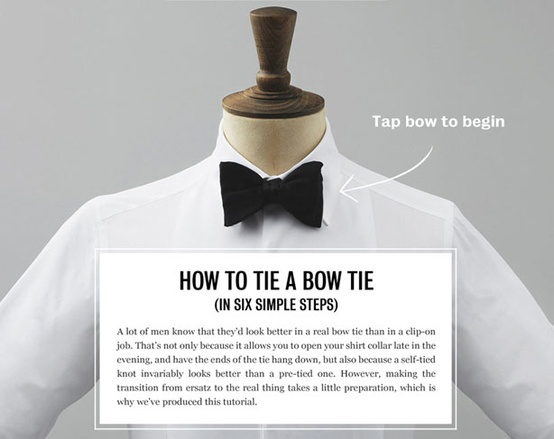 The husband how to tie a bow tie taryn cox the wife no ccuart Images