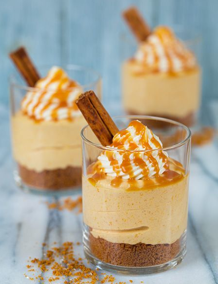 Autumn: Pumpkin Cheesecakes with Salted Caramel — Taryn Cox The Wife