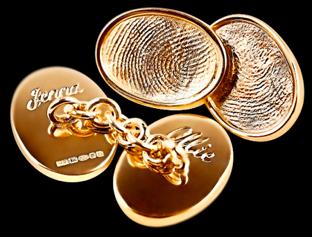 Fingerprint Cufflinks, Hattie Rickards